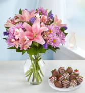 Floral Treasures Bouquet™ with Strawberries