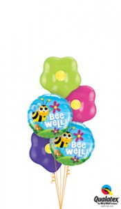 Floral well wishes balloons