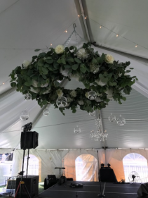 Floral Wreath Over Dance Floor