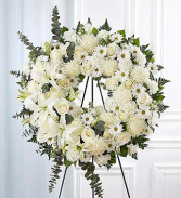 Floral Wreath White