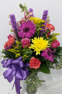 Flores Brillantes Florero