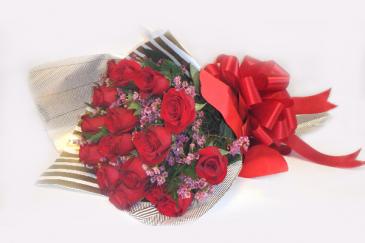 Flores de san Valentin Wrap Roses