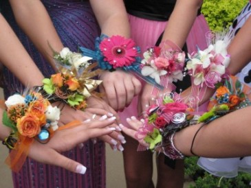 Florist choice corsage Let us know which one you like