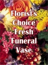 Florist choice funeral arrangement Vased or basket