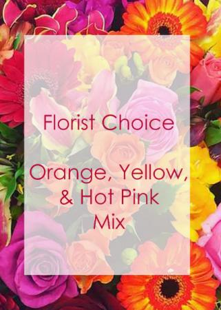 Florist Choice Yellow, Orange, & Hot Pink Mix