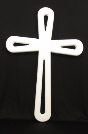 Florist Design Silk Sympathy Open Cross Standing Spray