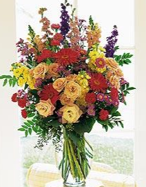 FLORIST DESIGN VASE ARRANGEMENT (FLOWERS VARY) GORGEOUS ARTISTIC DESIGNED in Pawhuska, OK | TALLGRASS PRAIRIE FLOWERS