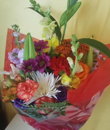 Florist Designer Choice Wrapped Bouquet