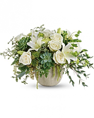 Flourishing Beauty Arrangement Elegant White Blooms