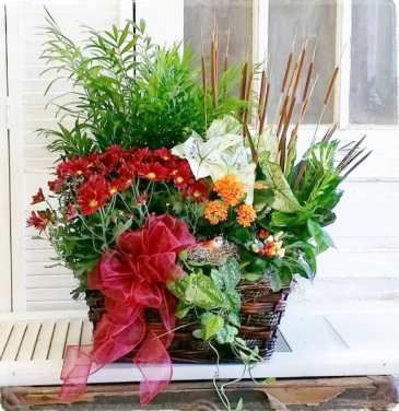 Flourishing Fall European Garden Basket