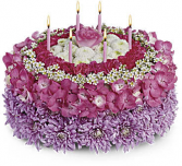 Purple Passion Flower Cake Birthday Delivery Fort Worth