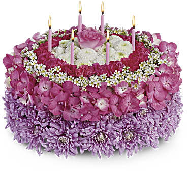 Purple Passion Cake Bouquet
