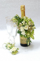 Celebrate in style! Bottle corsage only