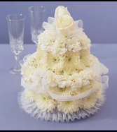 Flower Cake for Wedding Arrangement
