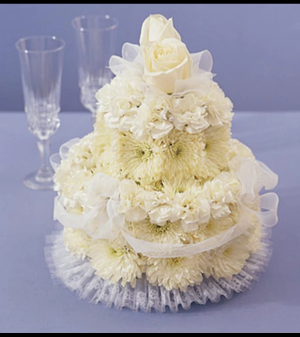 Flower Cake for Wedding Arrangement in Croton On Hudson, NY | Cooke's Little Shoppe Of Flowers