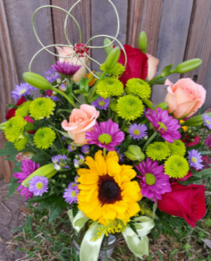 Flower Child Mixed Vase Arr in Jarrell, TX | Awesome Blossoms Florist