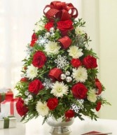 FLOWER CHRISTMAS TREE Centerpiece