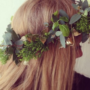 Flower Crown {green foliage} in Toronto, ON | BOTANY FLORAL STUDIO