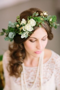 Flower Crown {white & green blooms} in Toronto, ON | BOTANY FLORAL STUDIO