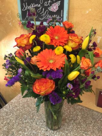 Flower Expression Vase Arrangement In Yukon Ok Anns Flowers