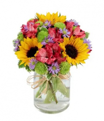 Flower Fields Mason Jar Arrangement