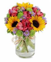 Flower Fields Mason Jar Bouquet