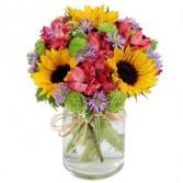 Flower Fields Mason Jar Summer Flowers