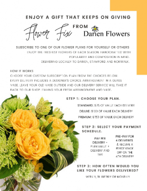 Flower Fix Floral Subscription in Darien, CT | DARIEN FLOWERS