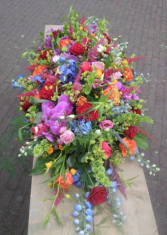 Flower Garden Blanket Casket Spray