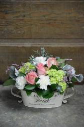 Flower Garden French Tin Arrangement
