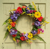 Flower Garden Silk Wreath