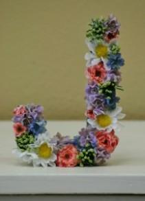 """FLOWER LETTER """"J""""  Gift Item"""