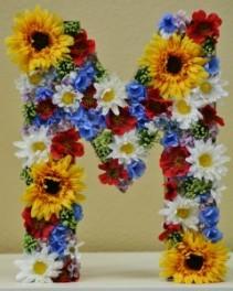 """FLOWER LETTER """"M"""" Gift Item"""