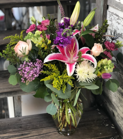 Flower Market Bouquet Fresh Cut Flowers In Vase