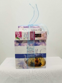 Glass Flower Pot with Organic Tea