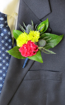 Flower Power Boutonniere