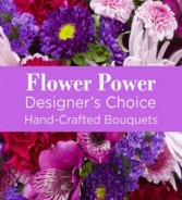 Flower Power (Moave) Hand-tie Bouquet