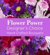 Flower Power (Moave) Hand-tie Bouquet