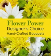 Flower Power (Yellow) Hand-tie Bouquet