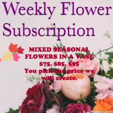Flower subscription Subscription Vase Mixed Seasonal