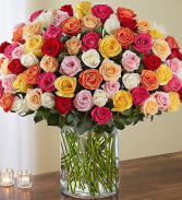 Flowerama Colorama Roses Assorted Rose Arrangement