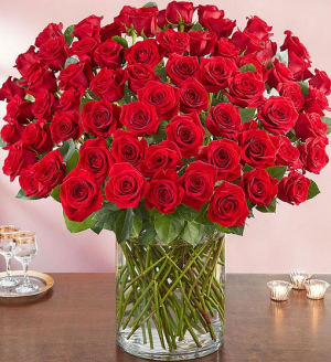 Flowerama Red Rose Stunner 100 Red Rose Arrangement in Springfield, MO | FLOWERAMA #226