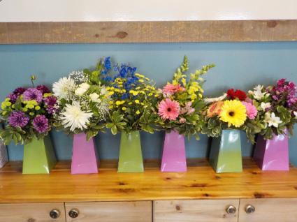 Box full of seasonal flowers $28  $38  $48