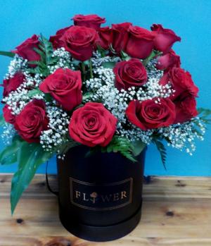 FlowerBox 36 Roses in a Flower Box in Abbotsford, BC | BUCKETS FRESH FLOWER MARKET