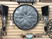 Flowered Wall Platter Metal