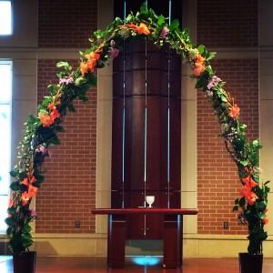 Flowered Wedding Arch Rental