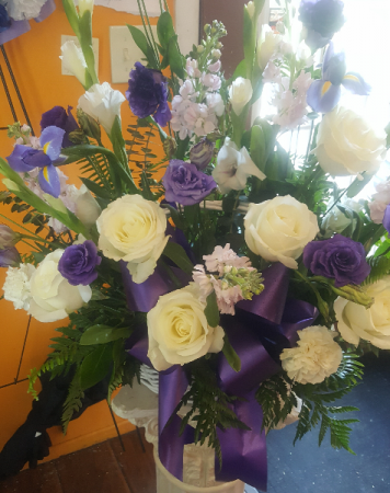 Sympathy Flowers in Basket
