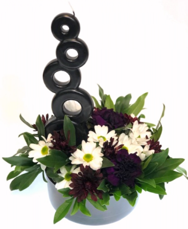 Flowers and a Candle Arrangement