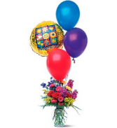 Flowers and Balloon Bouquet