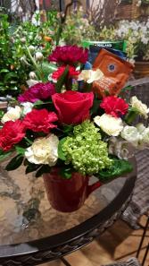 FLOWERS AND TEA Mug, flowers and tea